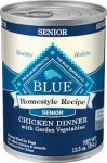 Blue Buffalo Homestyle Recipe Senior Chicken Dinner with Garden Vegetables Canned, 12.5-oz, case of 12