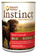 Nature's Variety Instinct Canned Beef Formula for Dogs