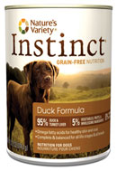 Nature's Variety Instinct-- Canned Duck Formula for Dogs