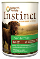 Nature's Variety Instinct-- Canned Lamb Formula for Dogs