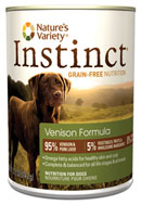 Nature's Variety Instinct-- Canned Venison Formula for Dogs