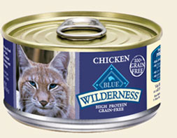 Blue Wilderness-- Canned Chicken Recipe for Cats (Grain Free)