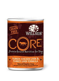 Wellness CORE- Canned Turkey, Chicken Liver & Turkey Liver Recipe (grain fee)