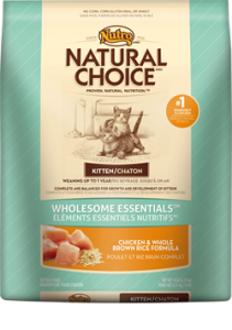 Nutro Natural Choice- Wholesome Essentials Kitten Chicken & Whole Brown Rice Formula